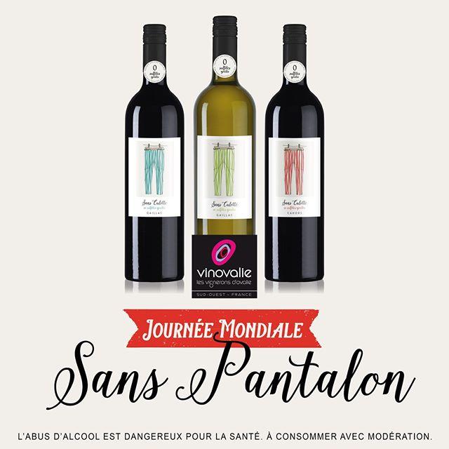 Quoi de mieux que notre vin 🍷 sans sulfites ajoutés SANS CULOTTE pour célébrer la journée mondiale sans pantalon 👖 !⠀ ⠀ Bonne journée !⠀ ⠀ #journeemondialesanspantalon  #sansculotte #vinsanssulfites #vinsanssulfitesajoutés #vinovalie #aopgaillac #aopcahors @cahorsmalbec @vinsdegaillac @les_vinsdusudouest #vinoccitanie #occitanie #cavecooperative