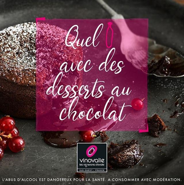 🍫QUEL VIN AVEC  DES DESSERTS AU CHOCOLAT ?🍫⠀ Pendant que certains profitent du confinement pour se mettre au sport, d'autres font de la pâtisserie🎂... ⠀ Alors pour déguster vos desserts et goûters au chocolat on vous a préparer une petite liste d'accords mets et vins 🍷 !⠀ Pour que vos fondant, cheese cake, tiramisu... et même chocolats de Pâques soient parfaitement accompagnés !⠀ 🤓Lien en bio ! 🤓⠀ #vinovalie #accordmetsetvin #chocolat #chocolataddict #wine #winelover #winemaker #cooperative #aopgaillac #aopcahors #aopfronton #igpcomtetolosan #vin #winetasting #wineaddict #frenchwine #winestagram #instawine @les_vinsdusudouest @lacooperationagricole